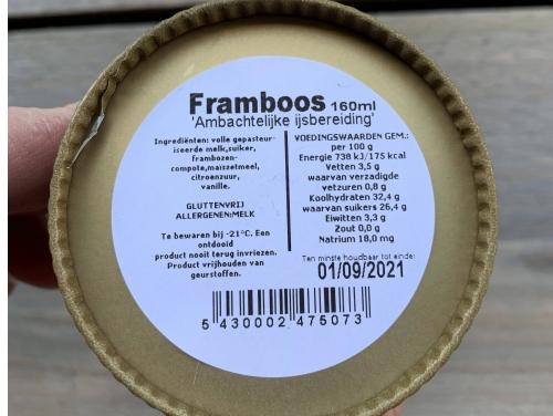IJSPOTJE FRAMBOOS 160ML